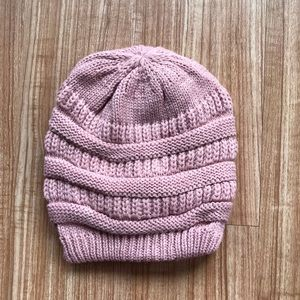 Accessories - Pink Slouch Beanie